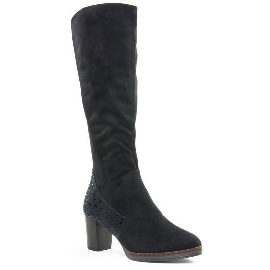 Bottes Marco Tozzi 25522 Black Comb, vue principale de la chaussure femme