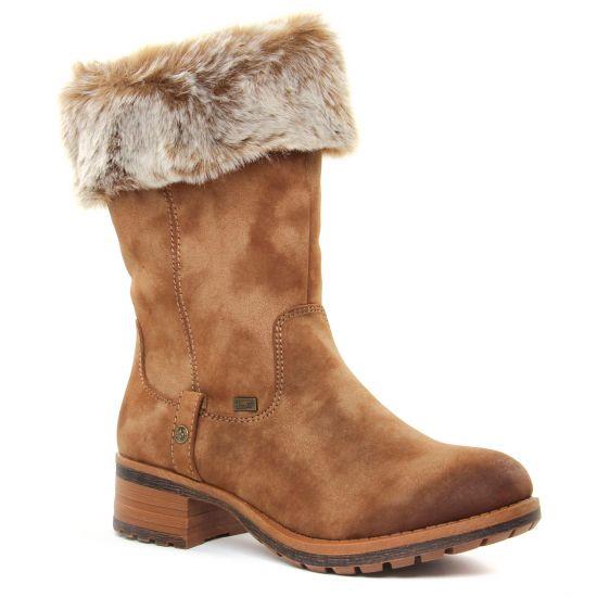 Bottes Rieker 96854-24 Taupe Steppe, vue principale de la chaussure femme