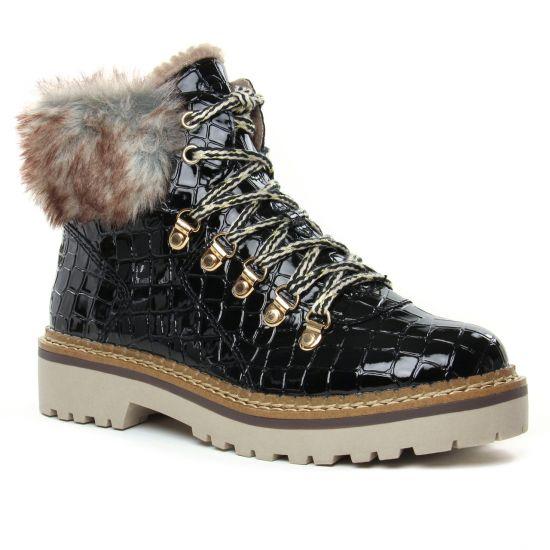 Bottines Et Boots Tamaris 26245 Blk Croco Pat, vue principale de la chaussure femme
