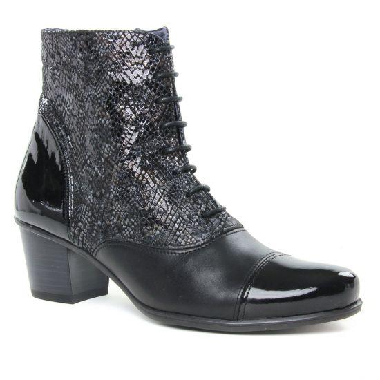 Bottines Et Boots Dorking Brisda D7255 Noir, vue principale de la chaussure femme