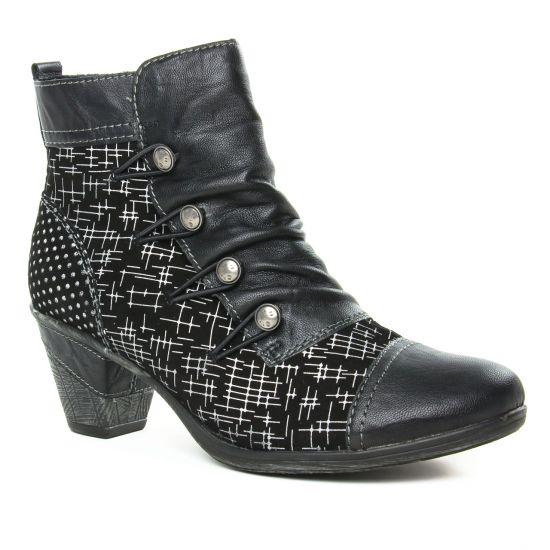 Bottines Et Boots Remonte D8792-02 Noir, vue principale de la chaussure femme