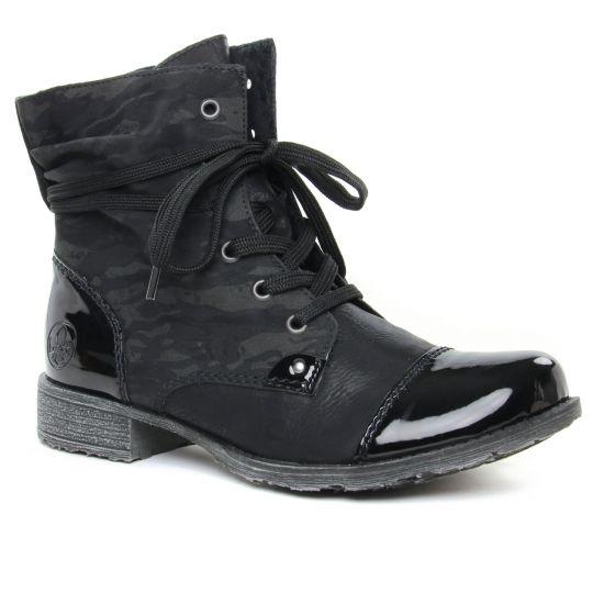 Bottines Et Boots Rieker 70822-00 Schwarz, vue principale de la chaussure femme