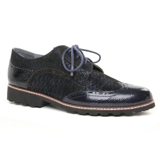 Chaussures À Lacets Fugitive Weyer Navy, vue principale de la chaussure femme