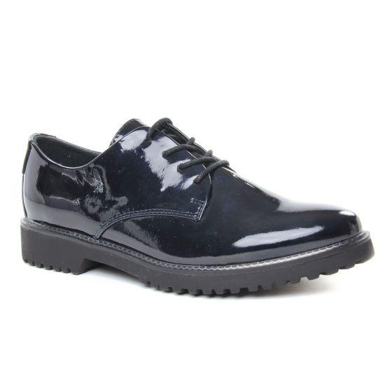 Chaussures À Lacets Marco Tozzi 23712 Navy Met Pat, vue principale de la chaussure femme