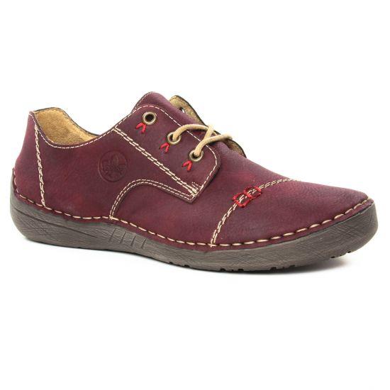 Chaussures À Lacets Rieker 52520-35 Bordeaux, vue principale de la chaussure femme