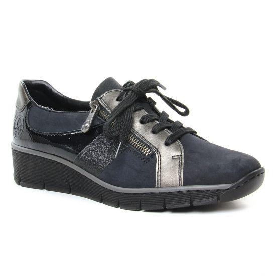 Chaussures À Lacets Rieker 53713-00 Schwarz, vue principale de la chaussure femme