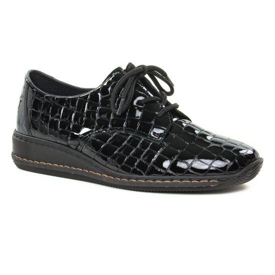 Chaussures À Lacets Rieker 44310-00 Noir, vue principale de la chaussure femme