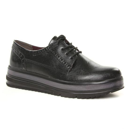 Chaussures À Lacets Tamaris 23710 Blk Pat Struc, vue principale de la chaussure femme