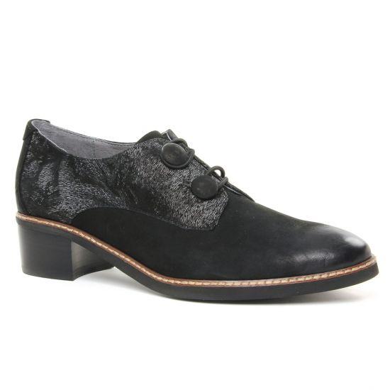 Chaussures À Lacets Fugitive Salco Noir, vue principale de la chaussure femme