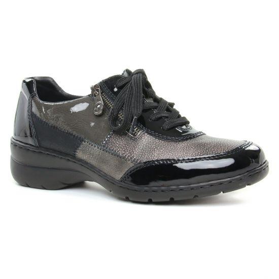 Chaussures À Lacets Rieker L4320-00 Schwarz, vue principale de la chaussure femme