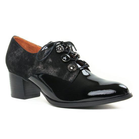 Chaussures À Lacets Mamzelle Toumi Noir, vue principale de la chaussure femme