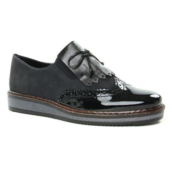 Chaussures À Lacets Rieker N0372-00 Schwarz, vue principale de la chaussure femme