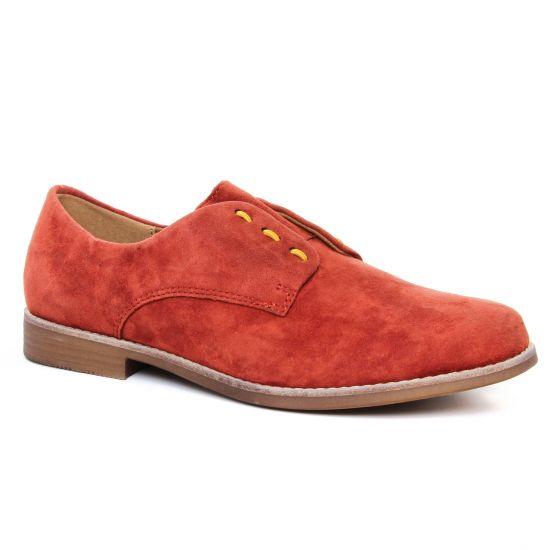 Chaussures À Lacets Emilie Karston Acinda Brick, vue principale de la chaussure femme