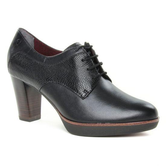 Chaussures À Lacets Tamaris 23309 Black Snake, vue principale de la chaussure femme