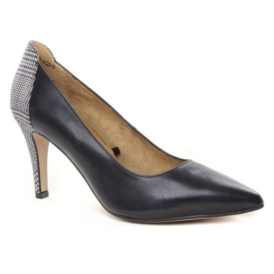 Escarpins Tamaris 22445 Black Tartan, vue principale de la chaussure femme