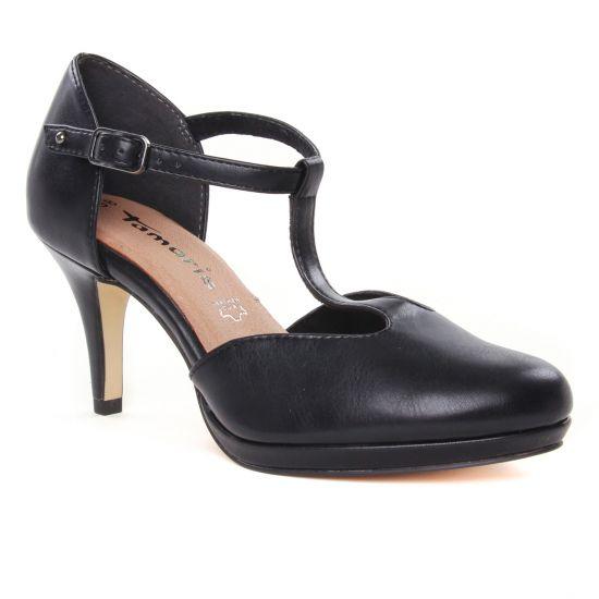 Escarpins Tamaris 24433 Black Matt, vue principale de la chaussure femme