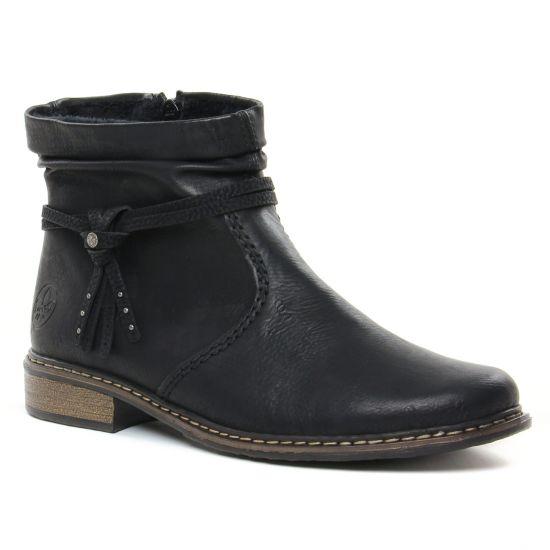 Bottines Et Boots Rieker Z4953-00 Schwarz, vue principale de la chaussure femme