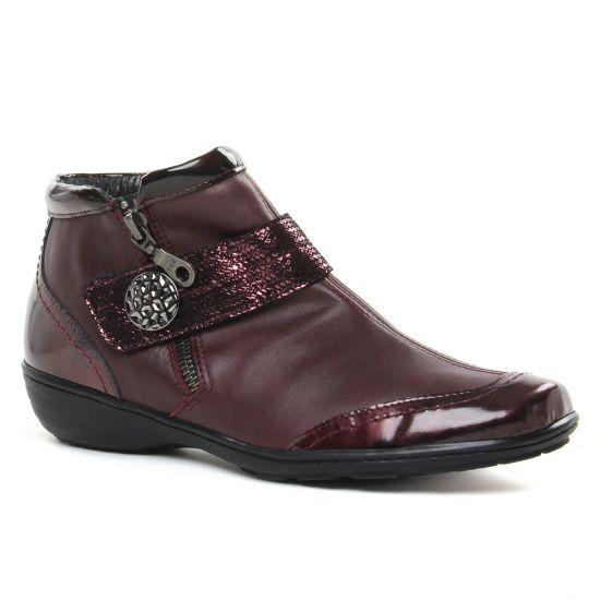 Bottines Et Boots Geo Reino Istaba Bordeaux, vue principale de la chaussure femme