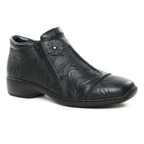 Bottines Et Boots Rieker L3888-00 Schwarz, vue principale de la chaussure femme
