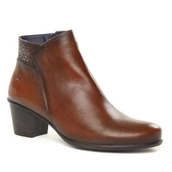 Bottines Et Boots Dorking D7927 Brisda Marron, vue principale de la chaussure femme