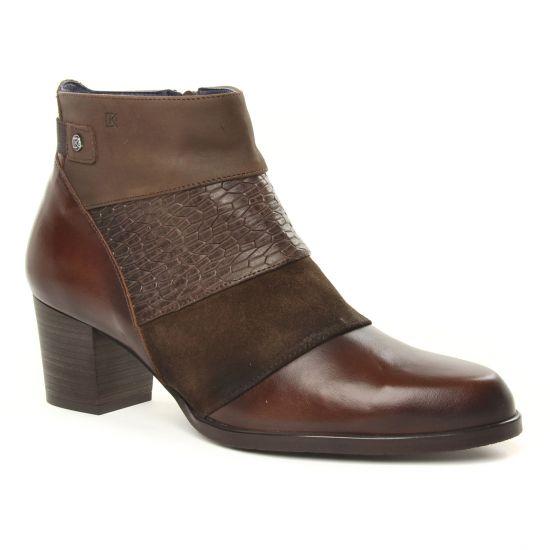 Bottines Et Boots Dorking D8028 Castagno, vue principale de la chaussure femme