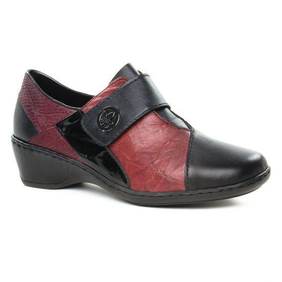 Mocassins Rieker 47161-00 Noir, vue principale de la chaussure femme