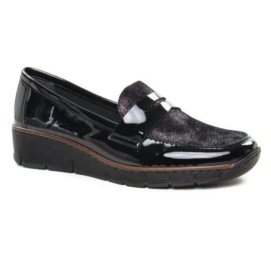 Mocassins Rieker 53732-01 Schwarz, vue principale de la chaussure femme