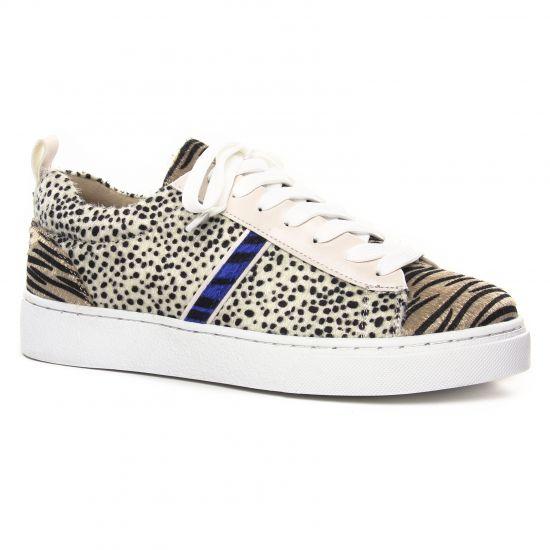 Tennis Et Baskets Mode Vanessa Wu BK2003ZB Cheetah Zebra, vue principale de la chaussure femme