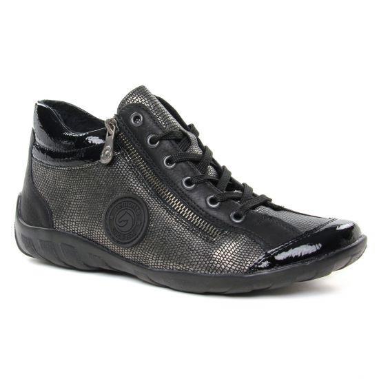 Tennis Et Baskets Mode Remonte R3489-91 Noir   Gris, vue principale de la chaussure femme