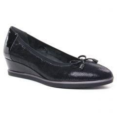 Chaussures femme hiver 2020 - ballerines compensées tamaris noir