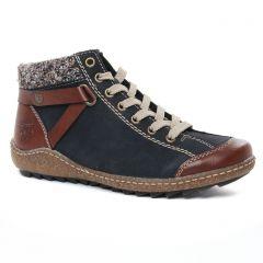 baskets-fourrees bleu marron: même style de chaussures en ligne pour femmes que les Rieker