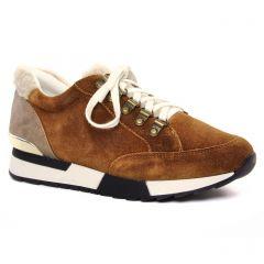 baskets-mode beige marron: même style de chaussures en ligne pour femmes que les Tamaris