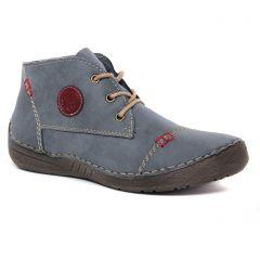 bottines-a-lacets bleu: même style de chaussures en ligne pour femmes que les Rieker