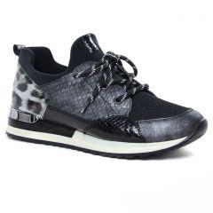Chaussures femme hiver 2020 - baskets mode Remonte gris noir