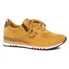 Chaussures femme hiver 2020 - baskets mode marco tozzi jaune