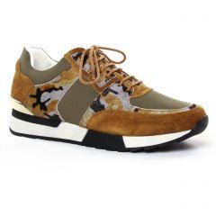 baskets-mode marron multi: même style de chaussures en ligne pour femmes que les Émilie Karston