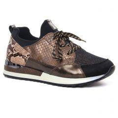 baskets-mode marron noir: même style de chaussures en ligne pour femmes que les Rieker
