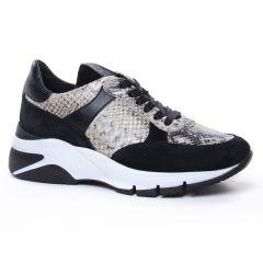 Chaussures femme hiver 2020 - baskets mode tamaris noir beige