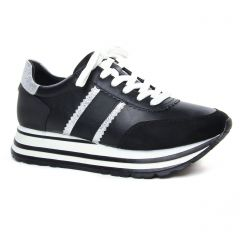 Chaussures femme hiver 2020 - baskets mode tamaris noir blanc
