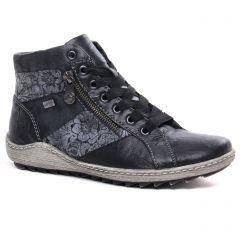 baskets-mode noir gris: même style de chaussures en ligne pour femmes que les Remonte