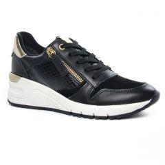 Chaussures femme hiver 2020 - baskets mode tamaris noir or