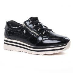 baskets-mode noir vernis: même style de chaussures en ligne pour femmes que les Tamaris