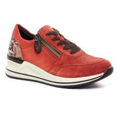 baskets-mode rouge brique: même style de chaussures en ligne pour femmes que les Remonte
