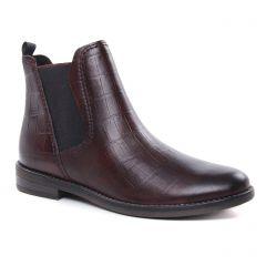 boots-chelsea bordeaux: même style de chaussures en ligne pour femmes que les Rieker