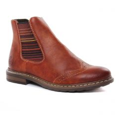 boots-chelsea marron: même style de chaussures en ligne pour femmes que les Rieker