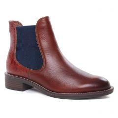 Chaussures femme hiver 2020 - boots élastiquées tamaris marron