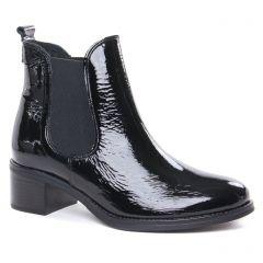 boots-chelsea noir vernis: même style de chaussures en ligne pour femmes que les Scarlatine