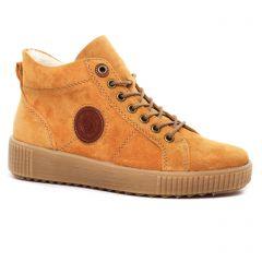 baskets-fourrees jaune: même style de chaussures en ligne pour femmes que les Remonte