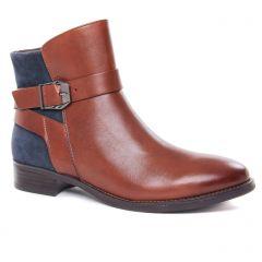 boots-jodhpur marron bleu: même style de chaussures en ligne pour femmes que les Caprice