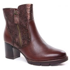 boots marron bronze: même style de chaussures en ligne pour femmes que les Tamaris